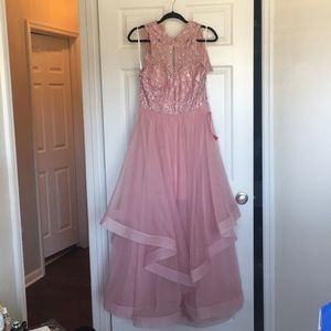 A beautiful pink gown by City Triangles